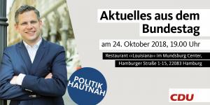 "Aktuelles aus dem Bundestag - in Uhlenhorst @ ""Louisiana"" im Mundsburg-Center"