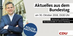"Aktuelles aus dem Bundestag - in Horn @ Restaurant ""Dubrovnik"""