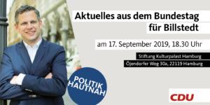 """Politik Hautnah - Aktuelles aus dem Bundestag"" in Billstedt @ Stiftung Kulturpalast Hamburg"