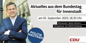 """""""Politik Hautnah - Aktuelles aus dem Bundestag"""" in der Innenstadt @ Restaurant """"Buon Giorno"""""""